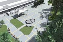 Vizualizace opraveného náměstíčka u Terasy.