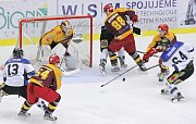 Havířovští hokejisté (v bílém) v úvodním utkání na Jihlavu nestačili.