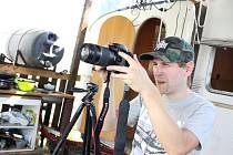 Lukáš Bulava při natáčení.