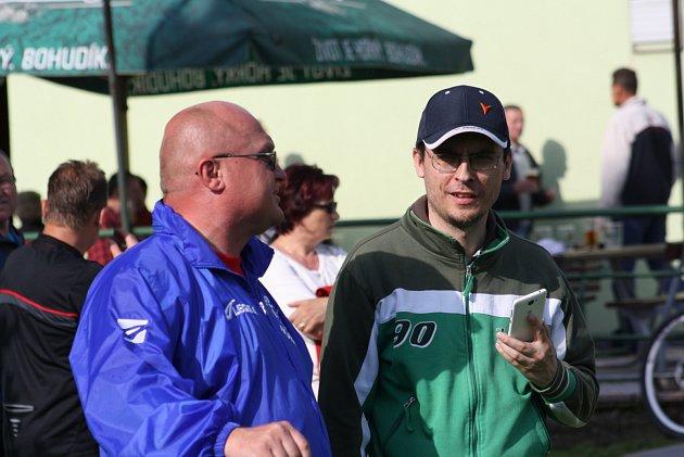 Marcel Tovaly (vlevo), současný předseda klubu.