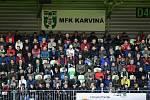 Utkání 26. kola první fotbalové ligy: MFK Karviná - Baník Ostrava, 29. března 2019 v Karviné. Na snímku diváci.