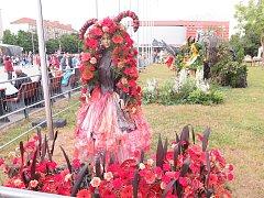 Havířov v květech - soutěž floristů. Na snímku květinová Luciferka.