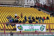 Fanoušci Karviné vycestovali do hlavního města podpořit svůj tým.