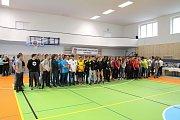 Účastníci školského mistrovství v silovém čtyřboji.