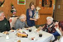 Se svými syny oslavila Hedvika Hlaváčová své životní jubileum.