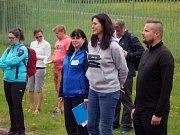 Sportující děti přišla podpořit i patronka a sportovní manažerka projektu Šárka Kašpárková.