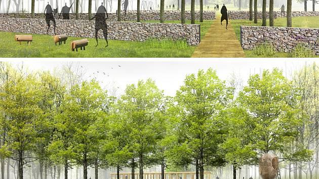 Lesopark určený k relaxaci a společnému setkávání vznikne v blízkosti Obecního úřadu Horní Bludovice.