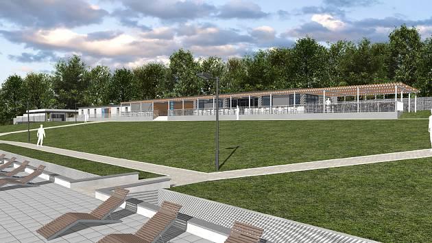 V Orlové plánují rekonstrukci letního koupaliště. Začít by se mohlo snad příští rok. Vizualizace.