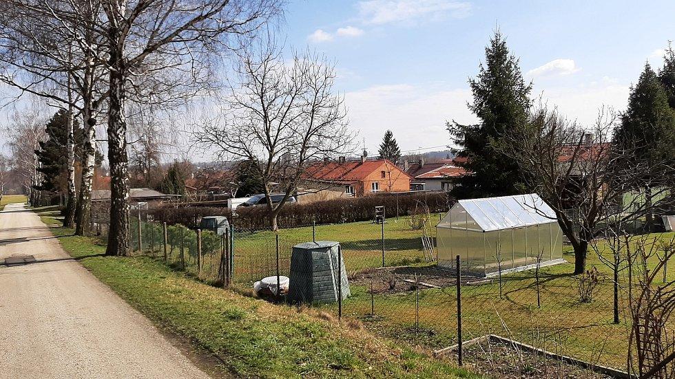 Petřvald. Pohled na kolonii poblíž restaurace Valachovec.