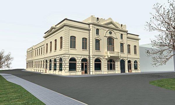 Národní dům vBohumíně. Vizualizace budoucí podoby.