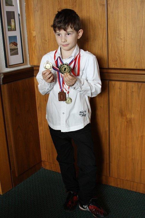 Osmiletý gymnazista Ondřej Frydrych.