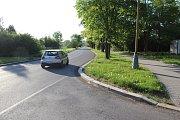 Ulice Astronautů v Havířově před zjednosměrněním.