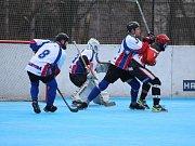 Hokejbalisté jsou ve finále. Play off zvládají výborně. Prachatice i Dobřany porazili 3:0 na zápasy.