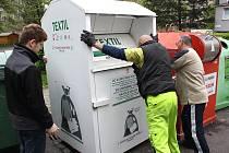 Jeden z kontejnerů umístili pracovníci ADRY ve Fibichově ulici v centru Havířova.