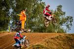 Nedělní motokros v Petrovicích nabídl zajímavou podívanou.
