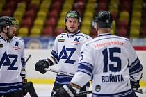 Hokejisté Havířova prohráli utkání 24. kola Chance ligy v Kolíně 2:3 (28. ledna 2021). Ani gól ostříleného útočníka Martina Adamského na body nestačil.