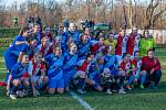 Z pohárového utkání fotbalistek Havířov - Slavia Praha.