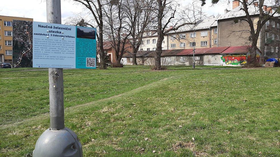 Karviná-Mizerov. Místo, kde stával židovský hřbitov, se nachází poblíž ulice Studentská.