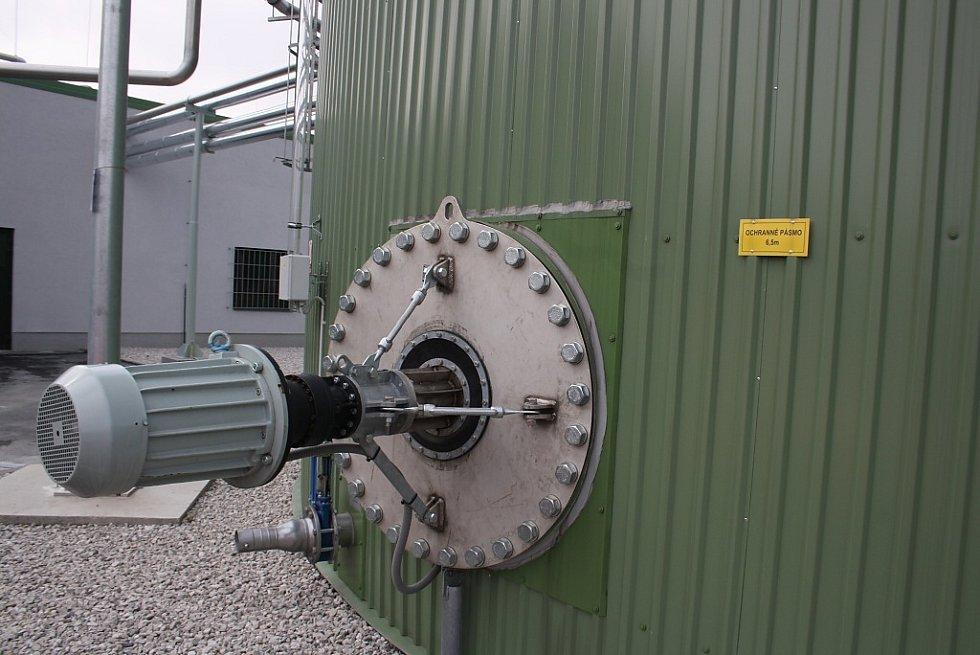 Bioplynová stanice pro zpracování bioodpadu v kogenerační jednotce na skládce Depos v Horní Suché.