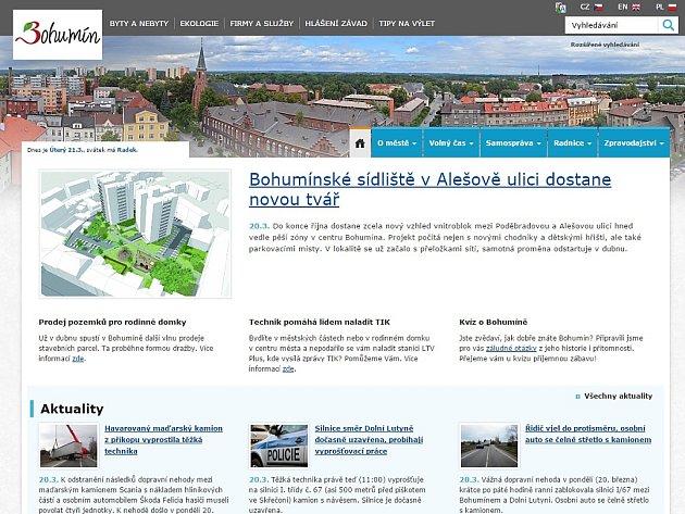 Webová stránka města Bohumína.