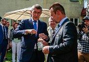 Vládní návštěva v Moravskoslezském kraji, 25. dubna 2018, Domov Březiny v Petřvaldu.