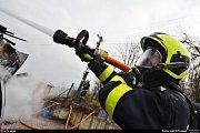 Zásah hasičů u požáru rodinného domu v Rychvaldě.
