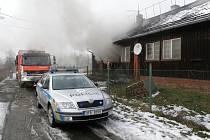 Zásah u požáru finského domku v Horní Suché.