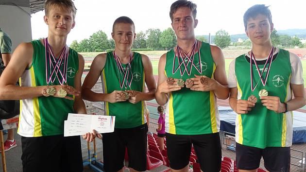 Mladí atleti zabojovali hlavně na krajském přeboru staršího žactva v Třinci.