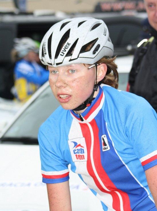 Denisa Bartošová po dojezdu páté etapy.
