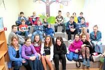Na besedě žáci 6. B třídy Základní školy Mládežnická.