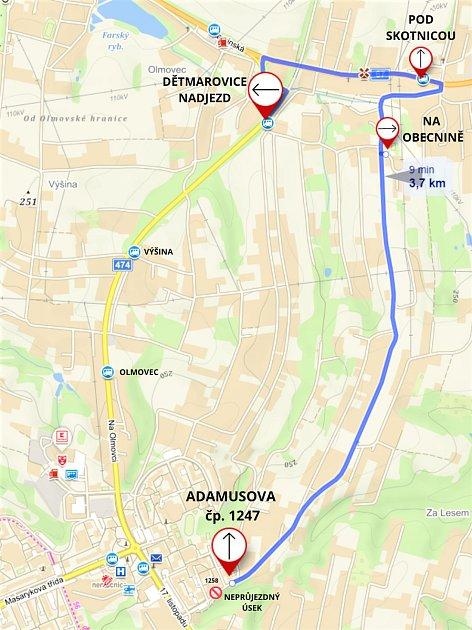 Část řidičů ze sídliště Pátá etapa bude muset několik dnů jezdit do města po dlouhé objížďce.