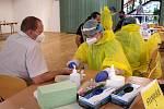 Druhým dnem pokračuje ve čtvrtek plošné testování zaměstnanců OKD na covid-19.