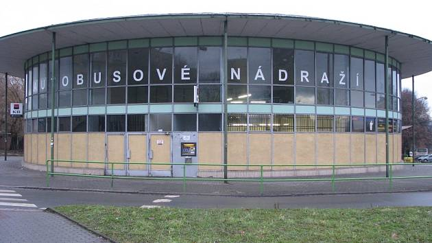 Rotunda havířovského autobusového nádraží.