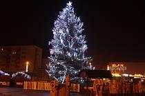 Vánoční strom v Havířově.