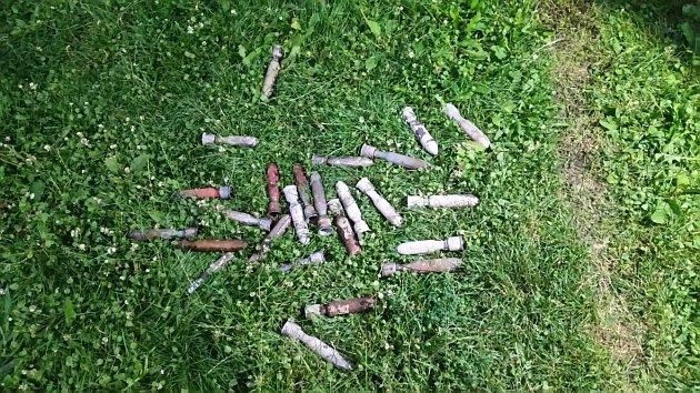 Nalezená munice.