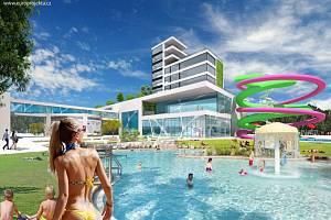 Lázně Darkov zveřejnily vizualizaci objektu termálního parku, který chtějí stavět v Karviné-Hranicích.