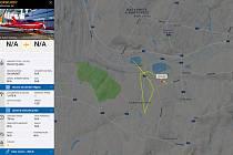 Pilotka ohlásila požár na poli v Šenově.