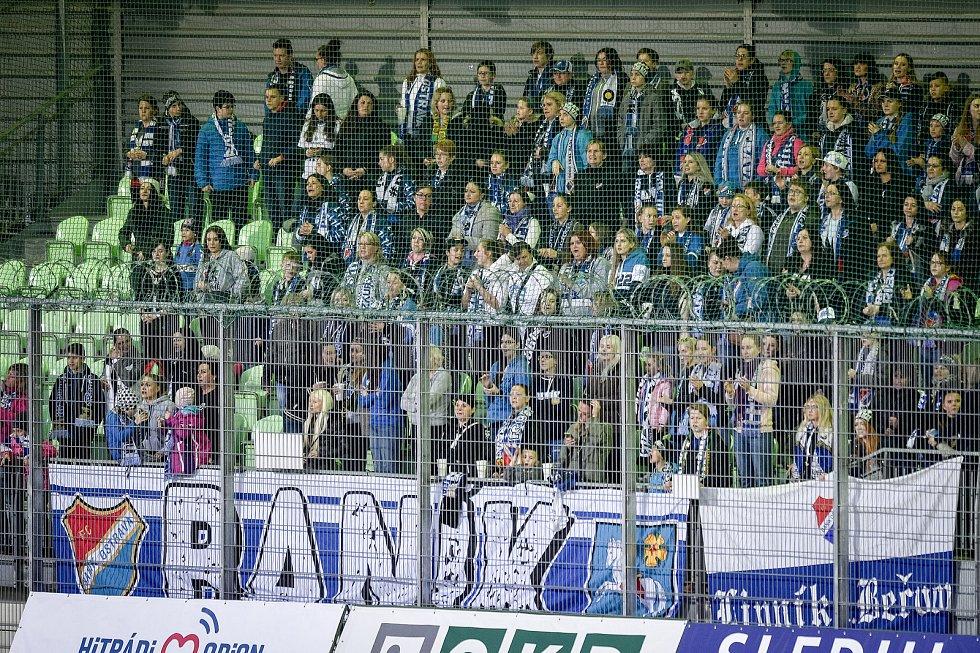 Utkání 26. kola první fotbalové ligy: MFK Karviná - Baník Ostrava, 29. března 2019 v Karviné. Na snímku fanoušci Baníku.