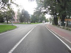 Místo dopravní nehody v Bohumíně.