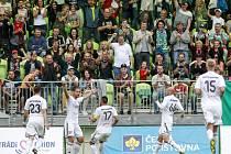Karvinští se radují z premiérového domácího gólu v lize.