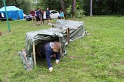 Letní tábor havířovského Střediska volného času Asterix na své základně ve Pstruží v Beskydech.