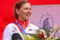 Vítězka Gracie Alena Amjaljusik z týmu Velocio SRAM Pro.