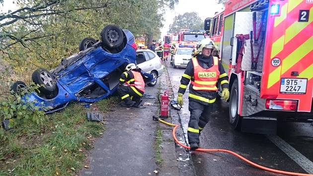 Vážná autonehoda v Šenově.