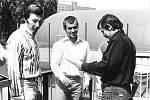 Vyhlášení vítězů turnaje dorostu, rok 1980: Zleva Jerzy Nowak, Vladimír Nemečkaj, Zdeněk Ščotka