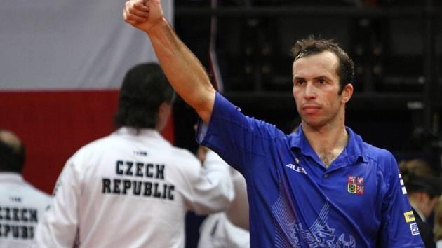 Dvojnásobný vítěz Davis Cupu Radek Štěpánek.