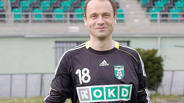 Jakub Kafka v dresu svého posledního zaměstnavatele - MFK OKD Karviná.