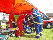 Soutěž o Železného hasiče ve Stonavě.