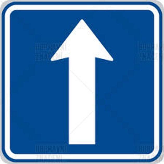 Dopravní značka IP4b Jednosměrný provoz.