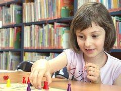 Také orlovské děti mohly trávil část volných prázdninových dnů v knihovně hraním nejrůznějších her.
