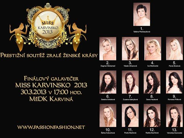 Miss Karvinsko 2013